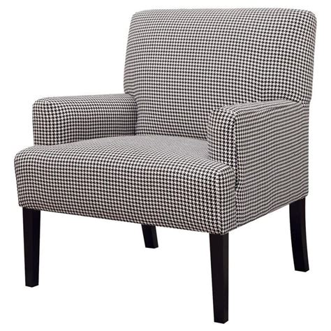 Houndstooth Accent Chair by Casual Accent Chair With Houndstooth Pattern