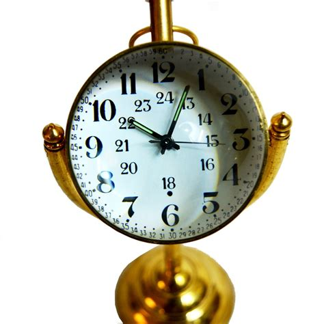 mechanical desk clock victorian style mechanical desk clock with brass base