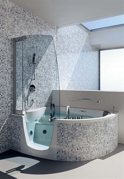 Spa Bath Shower Combination wanna naro na z prysznicem w mozaice