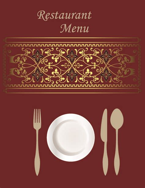 menu card design template vector free exquisite restaurant menu cover vector set 01 welovesolo