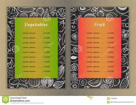 doodle list of elements vegetables and fruit list with doodle elements
