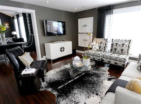 cowhide rug living room ideas gray room contemporary living room atmosphere