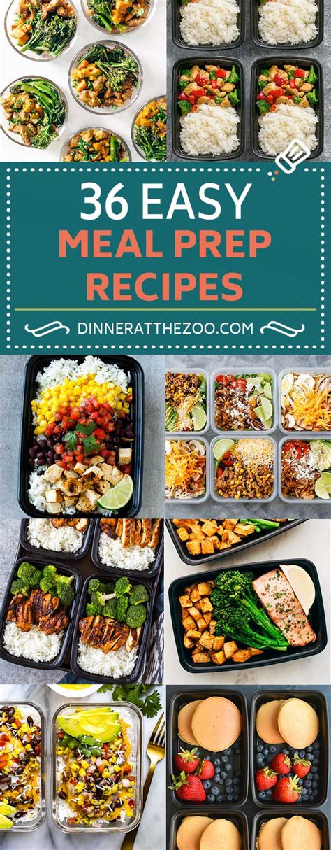 meal prep cookbook easy and delicious recipes to prep your week lunch edition book 2 books 36 easy meal prep recipes dinner at the zoo