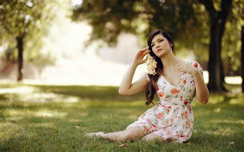 wallpaper girl dress floral dress hd wallpaper 1680x1050 26066