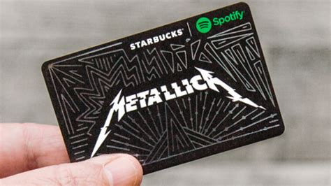 Charitable Gift Cards - metallica team up with starbucks spotify for limited edition charitable gift card