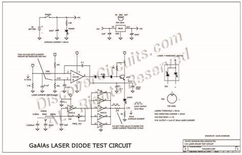 laser diode test circuit circuit modulated laser diode tester circuit designed by david a johnson p e