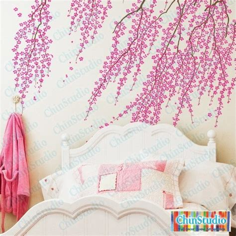 cherry blossom tree wall decal for living room vinyl by