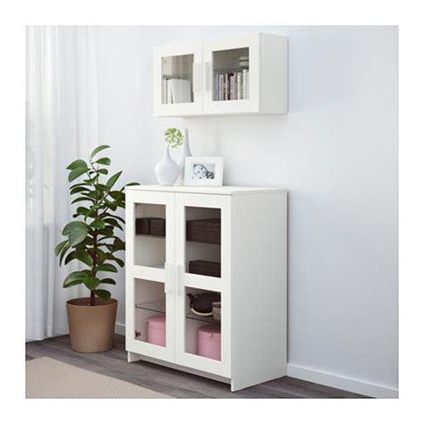white armoire with glass doors brimnes cabinet with doors glass white 78x95 cm ikea