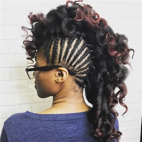 Mohawk Braid Hairstyle by Mohawk Braid Hairstyles Black Braided Mohawk Hairstyles
