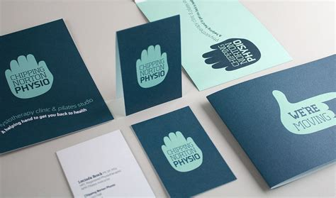 physio business card template chipping norton physio branding by wetdog creative
