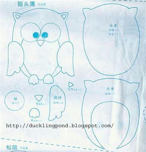 felt template felt owl templates