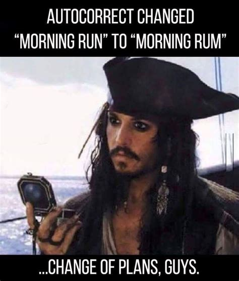 Rum Meme - going for a morning rum jack o connell captain jack and
