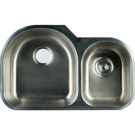 kohler staccato undermount stainless steel 32 in double
