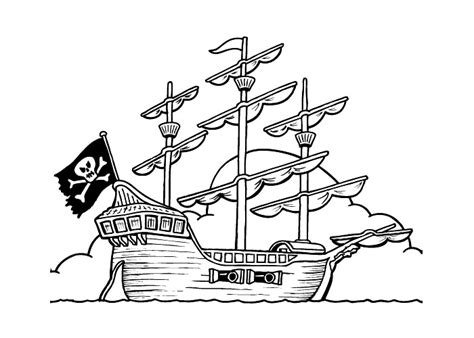 elias boat cartoon pirate ship coloring pages