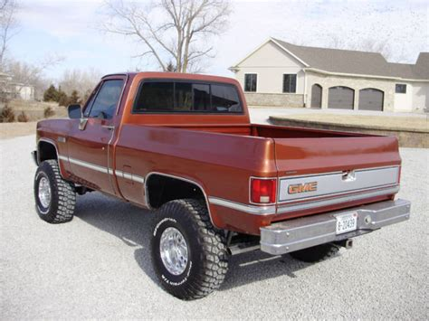 gmc sierra truck bed for sale 1987 gmc sierra 1500 pickup truck short bed rare color