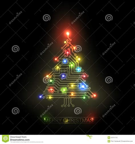 christmas tree from digital circuit stock photography