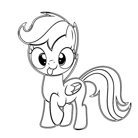 my little pony scootaloo coloring page free coloring pages of my little pony friendship is magic