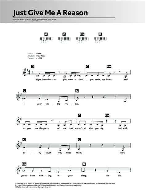 pink just give me a reason tutorial how to play on piano partition guitare pink just give me a reason