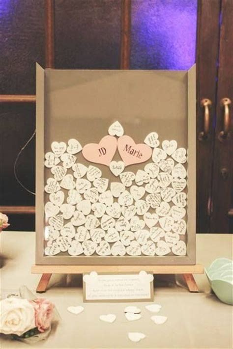picture frame guest book ideas diy wedding guest book frame w hearts