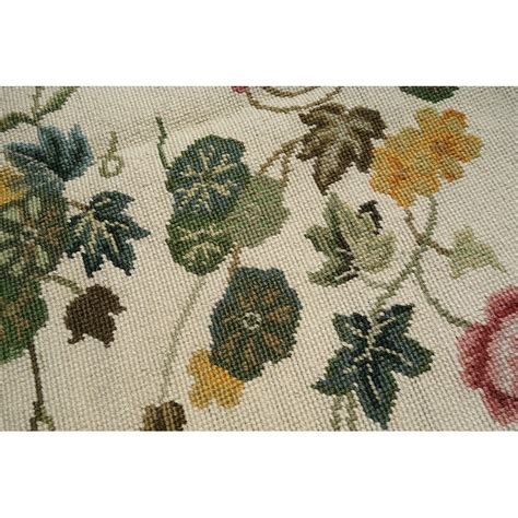 beautiful wool handmade flora garden needlepoint area rug
