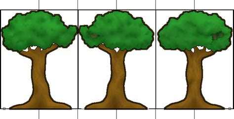 How To Make Model Trees From Paper - fantalonia 2 5d trees update