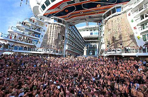 biggest boat party in the world allure of the seas briton missing after fall from world s