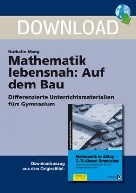 Gestell Auf Dem Bau by Auf Dem Bau Mathematik Lebensnah Unterrichtsmaterial