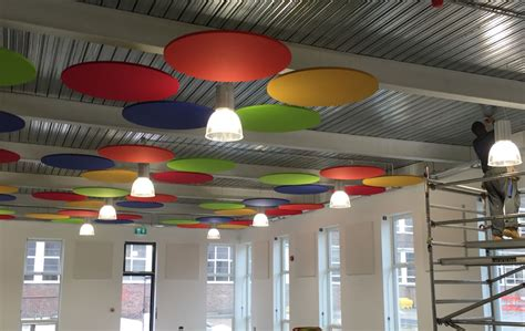 Suspended Acoustic Ceiling Panels by Suspended Acoustic Ceiling Panels In Open Office