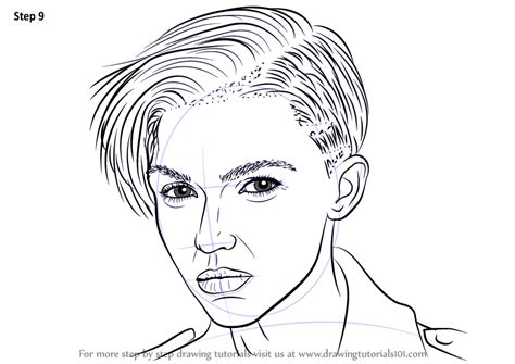 ruby rose coloring page learn how to draw ruby rose female models step by step