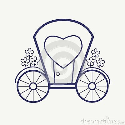 Outline Of A Carriage by Vector Wedding Outline Carriage Icon Set Thin Line Style Design Stock Vector Image