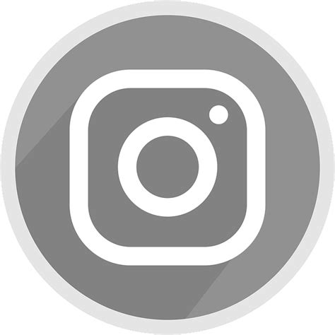 logotipo  instagram icone cinza grafico vetorial