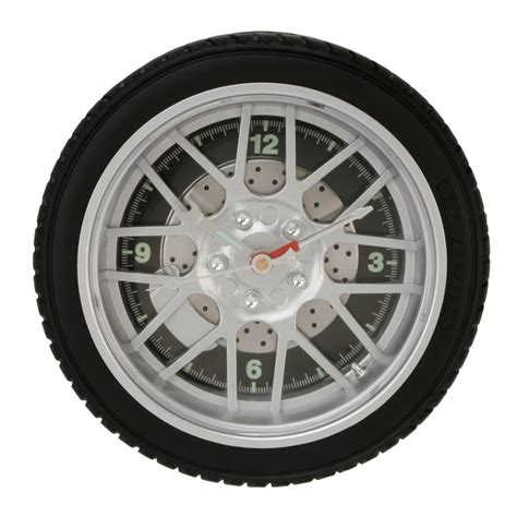 Home Designer Online Fantastic Sports Alloy Wall Clock 10 8 Spokes Car Tyre