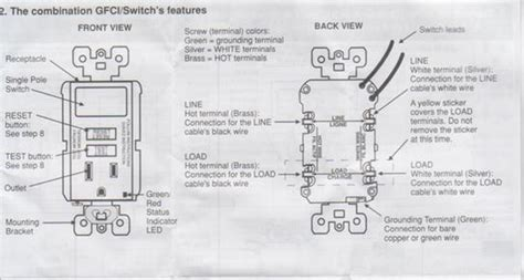gfci switch combo wiring diagram gfci inspiring car