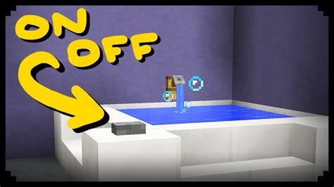 how to make a bathtub minecraft how to make a working bathtub youtube