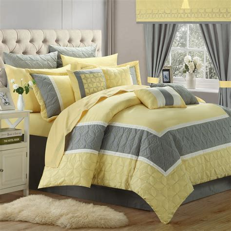 24 piece bedding set chic home aida 24 piece queen comforter set ebay