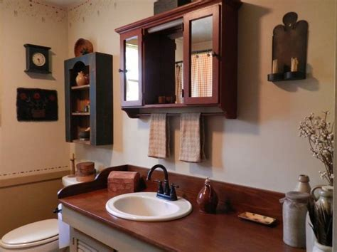 Primitive Bathroom Decor » Home Design 2017