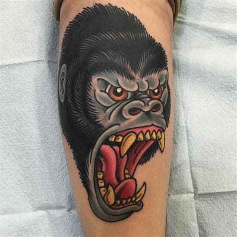 traditional gorilla tattoo 42 best traditional gorilla images on