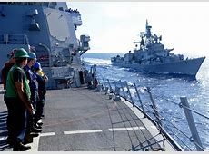 Rajput-Class Destroyer of the Indian Navy at Exercise ... Indian Navy Aircraft Carrier