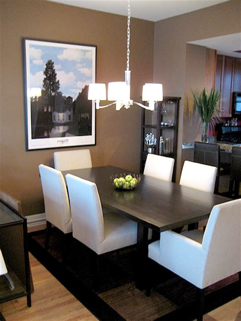 taupe dining room transitional dining room