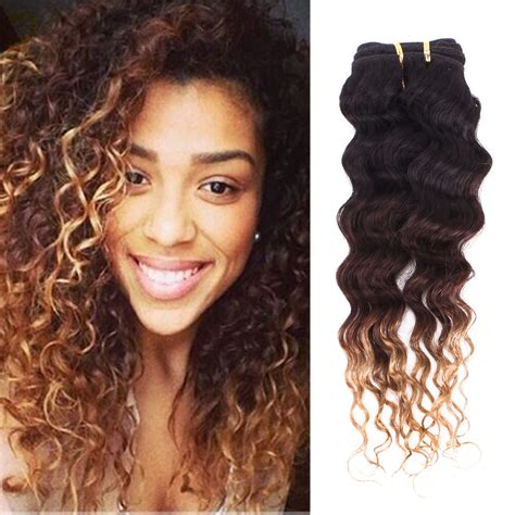 human hair weave newhairstylesformen2014 14 quot 28 quot ombre wave curly hair 3 tone