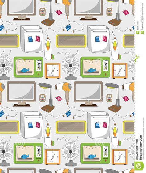 seamless pattern houses seamless home appliance pattern royalty free stock photos