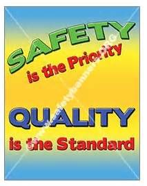 Vertical safety is priority quality is standard banners and posters