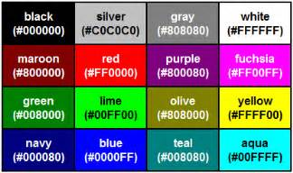 color table internet explorer
