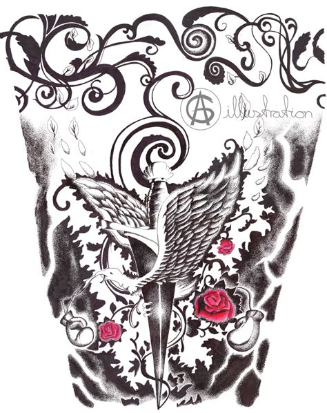arm tattoo commission by ag sart on deviantart