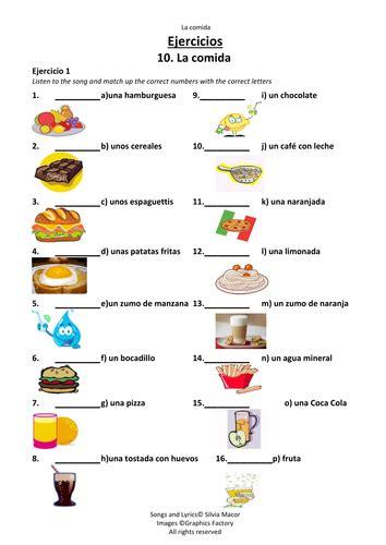 spanish foods list la comida food in spanish by roberial us teacher