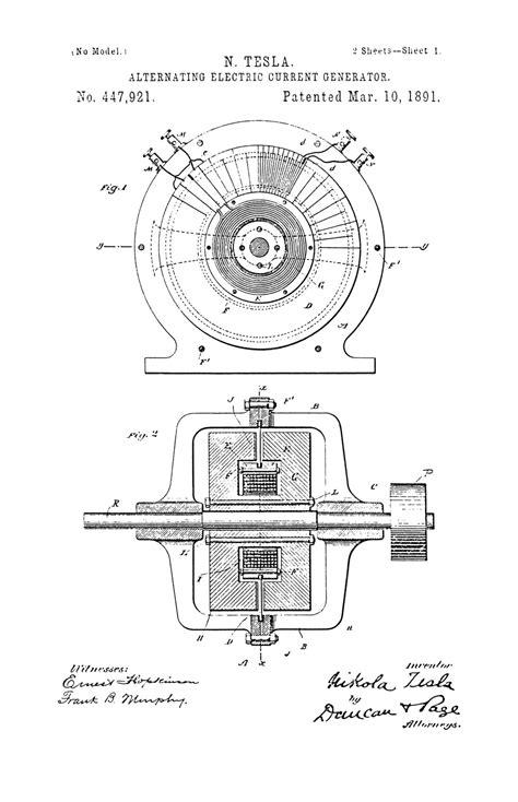 Alternating Current Nikola Tesla Nikola Tesla U S Patent 447 921 Alternating Electric