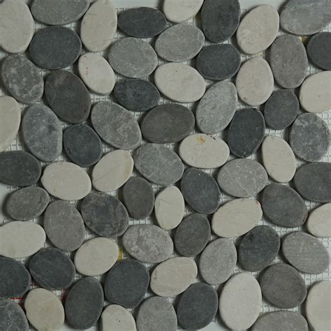 grey beige mixed pebble mosaic