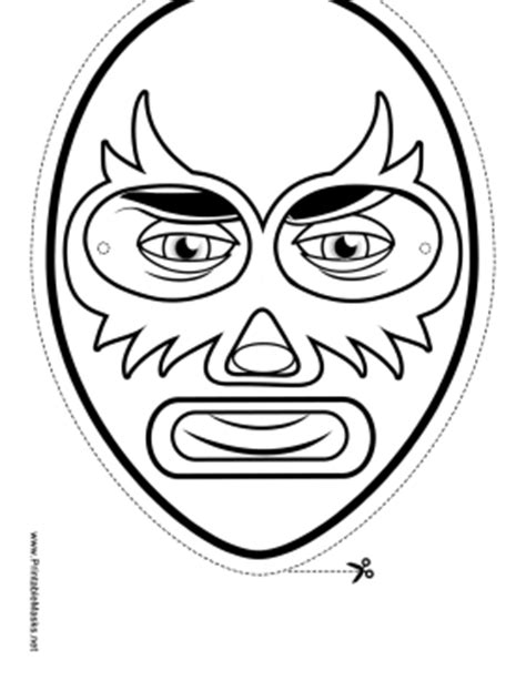 printable luchador masks printable elaborate wrestler mask to color mask