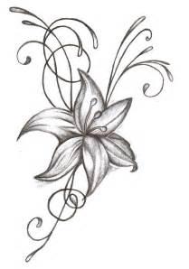 cool grey ink flower tattoo design for bicep tattooshunt com