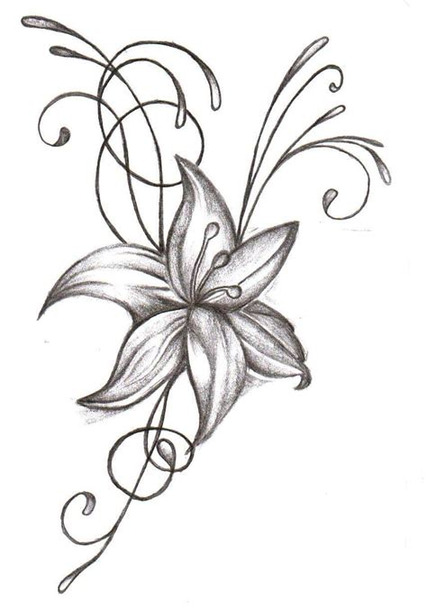 cool grey ink flower tattoo design for bicep tattooshunt com